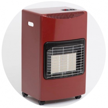 Seasons Warmth Portable Gas Heater - Red
